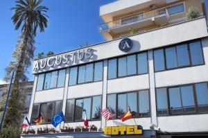 Facade of a Augustus Hotel near Napoli in Ottaviano